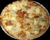 Quattro Formaggi mit Käse im Rand