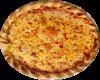 Napoli mit Käse im Rand