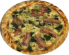 WunschPizza mit Käse im Rand
